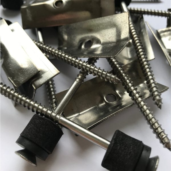 ridge screws with angled clamps