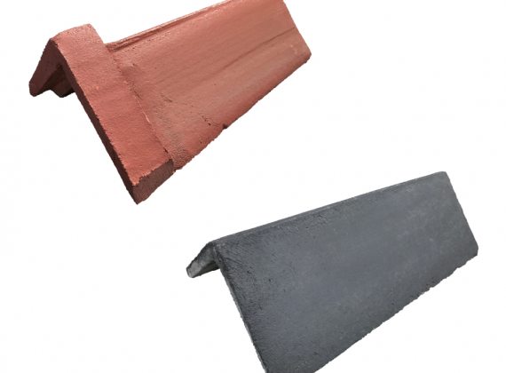 Concrete Plain and Capped Angle Ridge Tiles